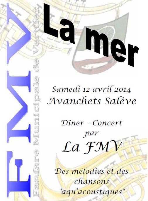 Dîner-Concert 12 avril 2014